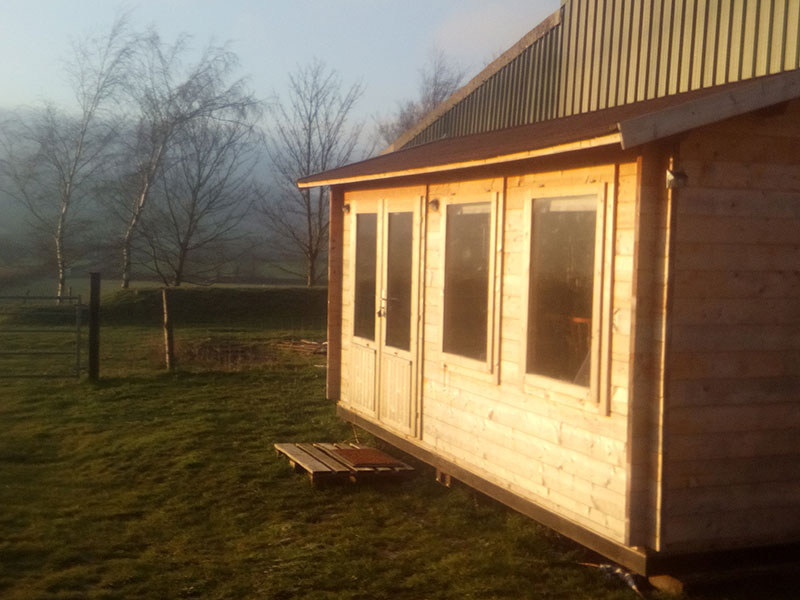 Log Cabin accommodation, South Downs Way